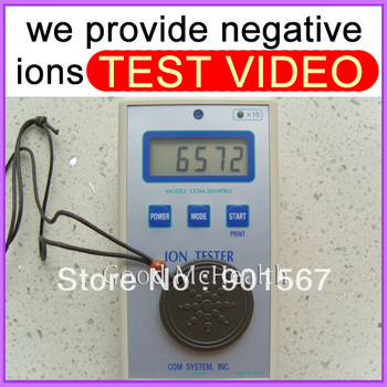 -=< Retail >=- 6000 ~ 7000 negative ions Quantum Scalar Energy Pendant provide ion test video Free Shipping