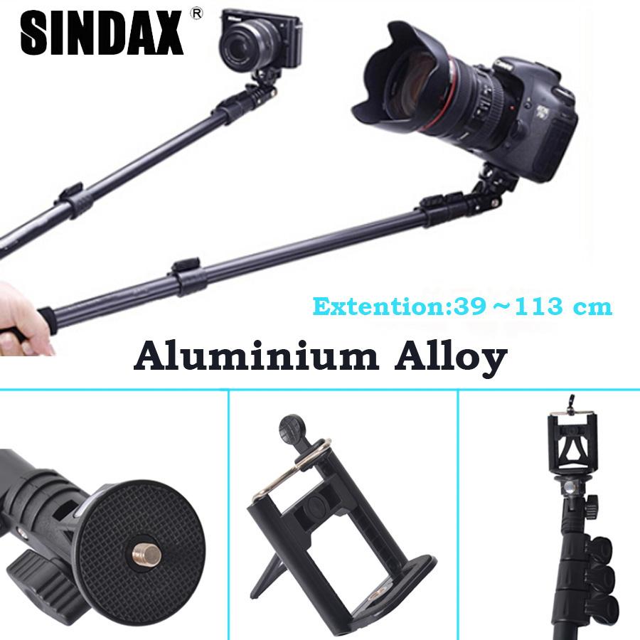 Camera Cellphone Handheld monopod Aluminium Alloy Extendable Telescopic Selfie Tripod for DSLR Gopro xiaomi yi action cam<br><br>Aliexpress