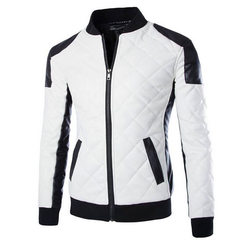 2016 winter autumn mens white leather jackets and coats,jaqueta de couro masculina men biker jacket leather coats men 50820011A(China (Mainland))