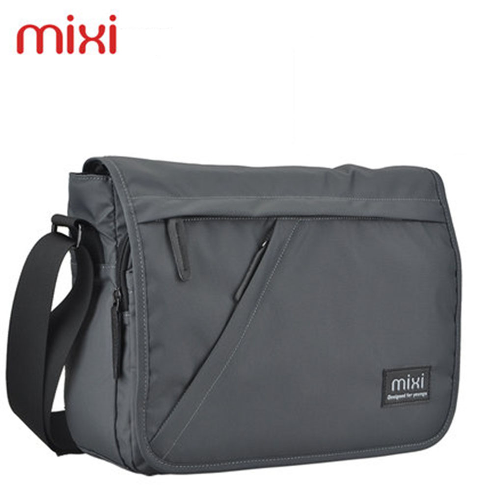 Mixi New 2016 Fashion Men Messenger Bags Casual Outdoor Men Travel Bags Men Shoulder Laptop Bag Black Grey Blue Free Shipping(China (Mainland))