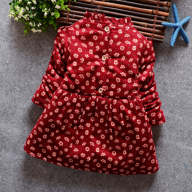 2015 Korean style children girl dress winter autumn baby girls princess clothes dress toddler girl dresses kids christmas dress(China (Mainland))