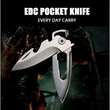 Multifunción cuchillo de bolsillo llavero Mini plegable de la lámina cuchillos clave utilidad cuchillos que acampan supervivencia del cuchillo herramienta exterior EDC
