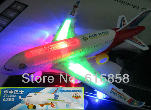 New Hot sale Airbus A380 Flash Sound Aircraft Music Lighting Toys Airplane Best Gift For Children Kids Toy Free shipping(China (Mainland))