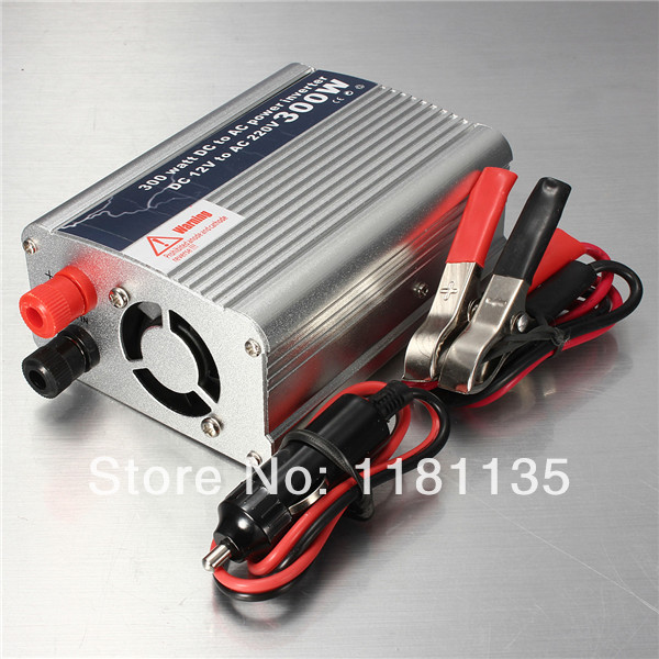 300W Portable Car Truck Boat USB DC 12V to AC 220V Super Power Inverter Converter Charger Free Shipping(China (Mainland))