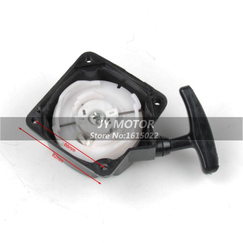 Plastic recoil Pull start Starter 2 Stroke Engine Pullstart For 33 43 47 49cc ATV Mini Pocket dirt Bike scooter free shipping(China (Mainland))