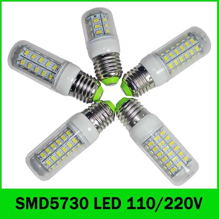 Ultra bright 5730 SMD led lamp 7W 12W 15W 18W 25W E27 LED Bulb 24LED 36LED 48LED 56LED 69LED 110LED SMD5730 light 220V/110V(China (Mainland))