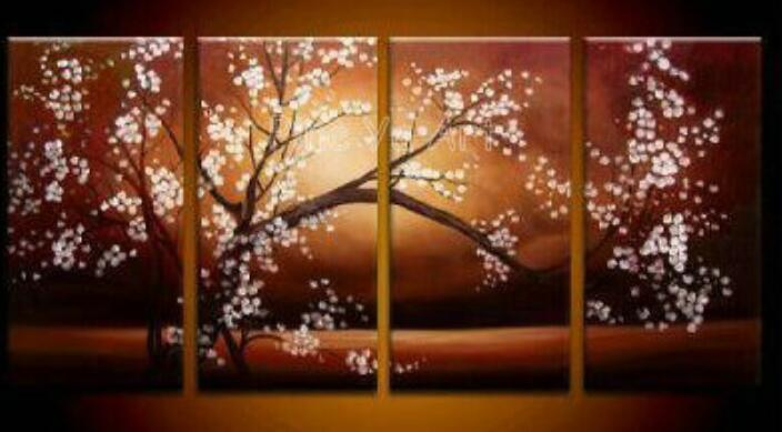 Cherry Blossom Canvas Wall Art high quality cherry tree landscape painting promotion-shop for