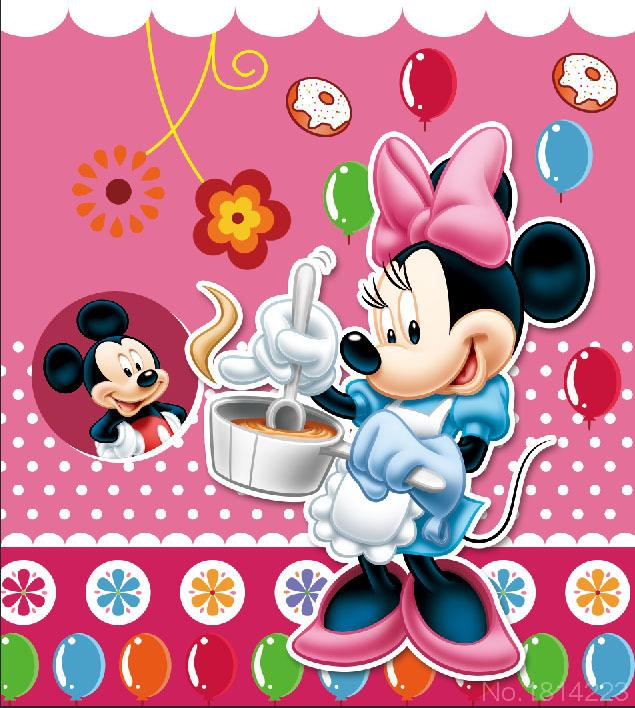3x5ft minnie cooking mickey mouse pink wall baby kids - Fondos de minnie mouse ...