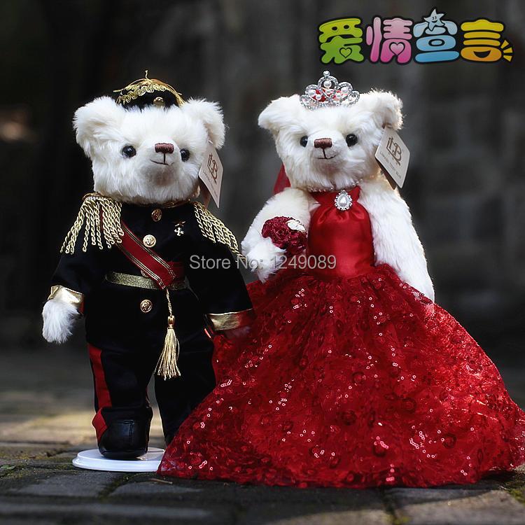 Фотография The royal wedding palace of Chinese and western  mixing style teddy bear 36 cm  Mr Lin wedding bear season 2 1023 forever love
