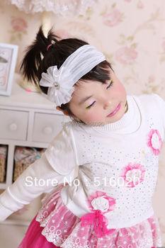 Fashion Beautiful  wedding tiara new Cute Girl Kids Gifts Flower Headbands hairwear Jewelry crystal headbands hair  Accessories