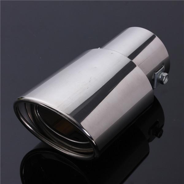 Universal Chrome Stainless Steel Car Rear Round Exhaust Pipe Tail Muffler Tip uk New(China (Mainland))