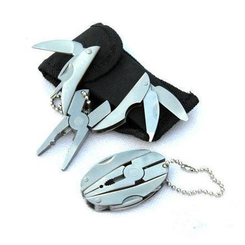 Portable Mini Multi Function Folding Pocket Tools Plier Knife Keychain Screwdriver