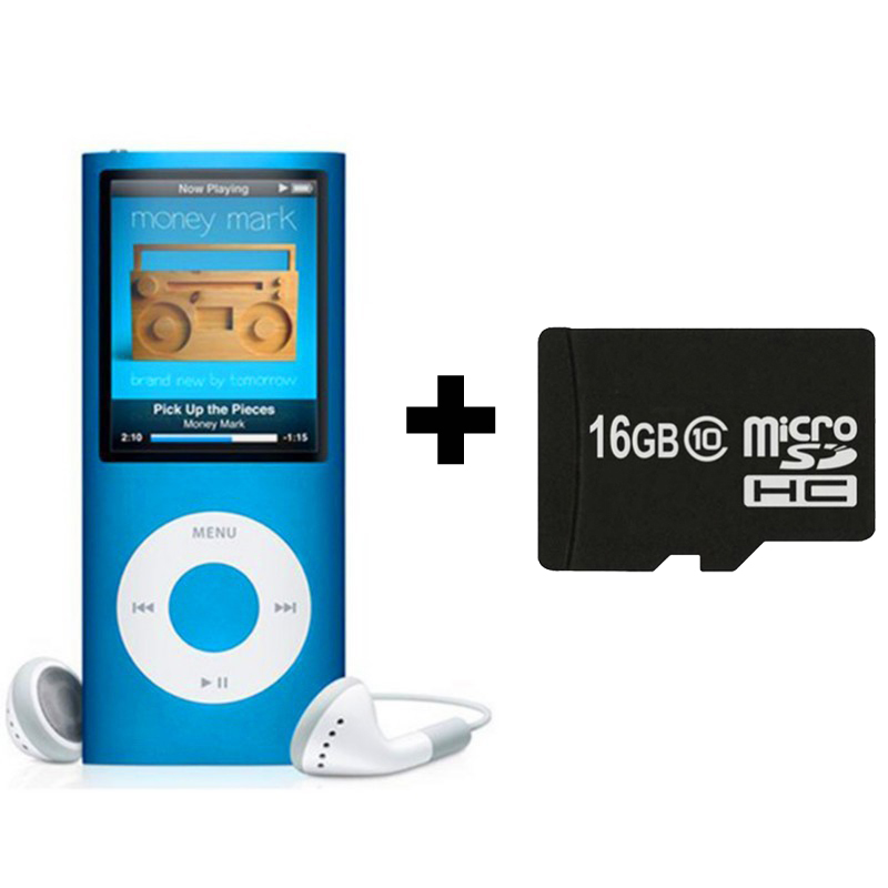Wholesales New Real 16GB TF SD Card for MP4 Player with Build-in Speaker Play Time 30Hours FM Radio Ebook Video Music Players(China (Mainland))