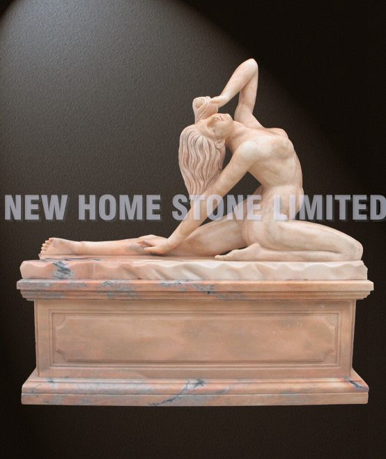 natural pink marble hand carved female nude sculpture<br><br>Aliexpress