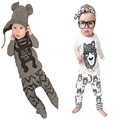 Spring summer style infant clothes baby clothing sets boy Cotton little monsters girl clothes 2pcs baby