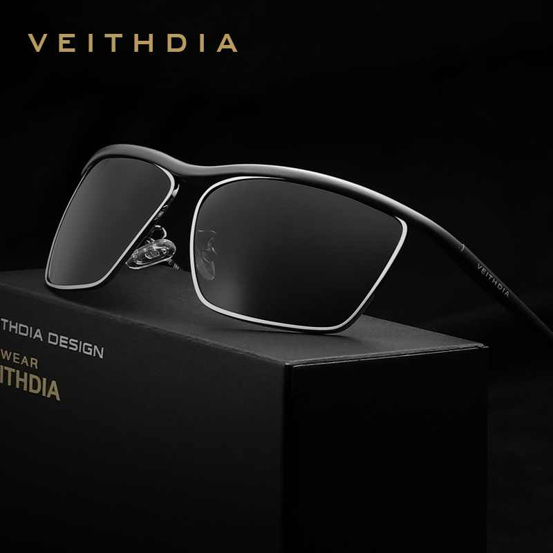 VEITHDIA Brand Aluminum Magnesium Men's Sun glasses Polarized Mirror Lens Outdoor Eyewear Accessories Sunglasses For Men 6381(China (Mainland))