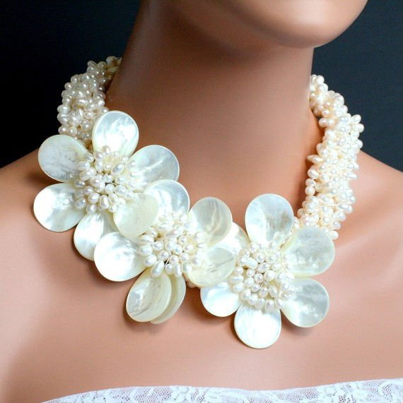 Wedding Jewelry-Princess Freshwater Pearl Necklace+Gift&amp;Free Shipping!!<br><br>Aliexpress