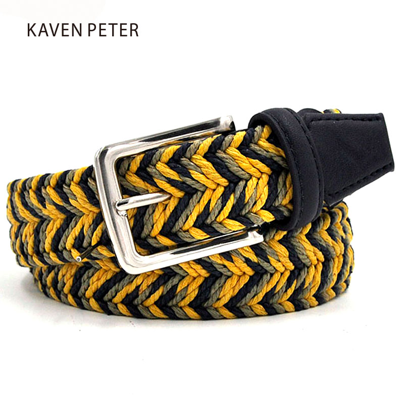 Newest Man Braided Design Belt Fashion Men's Braided Belts Wax Rope Material Mixed Color Free Shipment