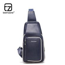 teemzone – New arrival Fashion Designer Soft Single Shoulder + Crossbody + Waist Pack Genuine Cowhide Leather Men's Bags JJ10