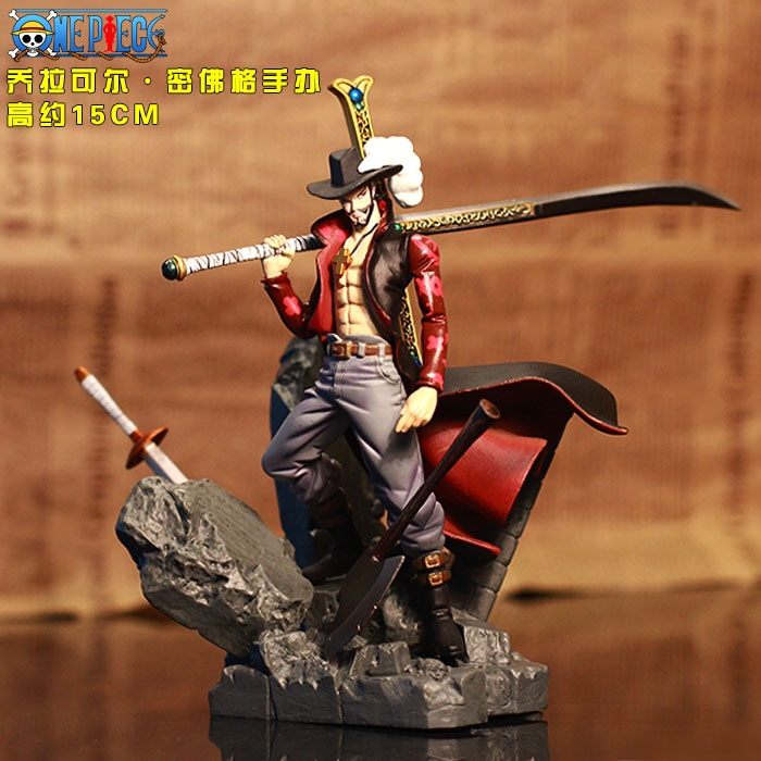Dracule Mihawk Action Figure One Piece Mihawk Doll 1/8 scale painted figure Dracule Mihawk PVC ACGN figure Toys Brinquedos Anime(China (Mainland))
