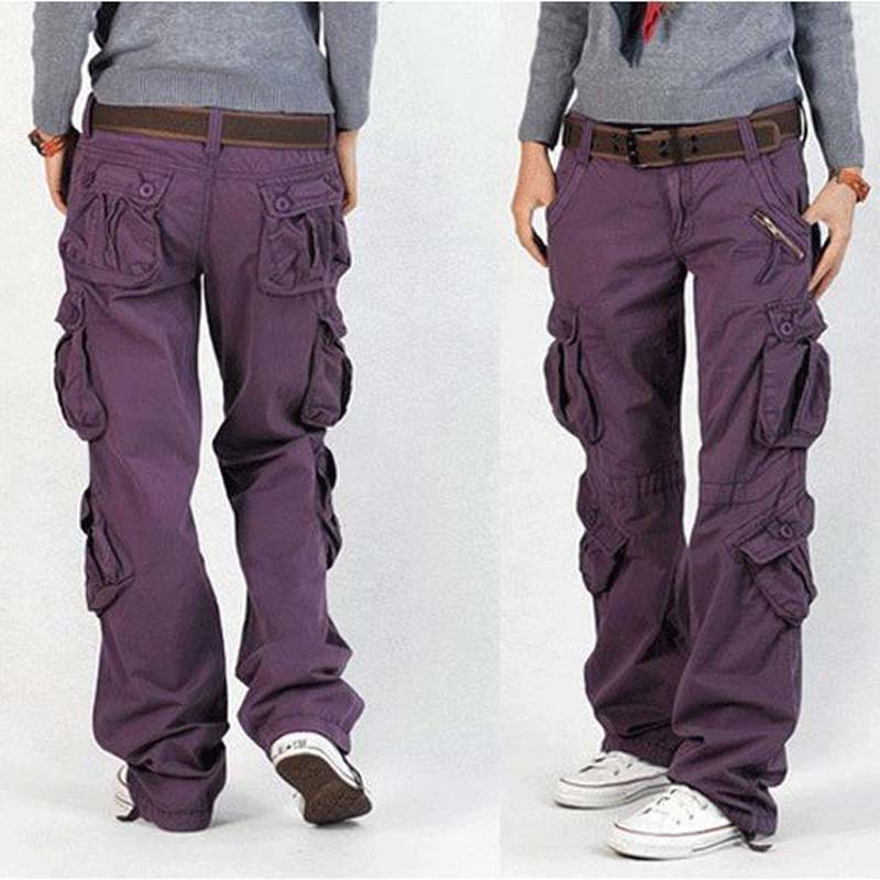 Elegant Slim Cargo Pants Women  Dis Pants