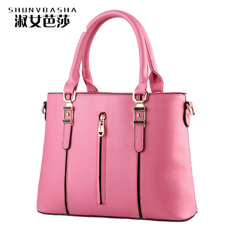 Female Hangbags New Design Fashion Solid Bags Women Handbags Zipper Real Pictures Handbags Soft PU Leather Flap Messenger Bags(China (Mainland))