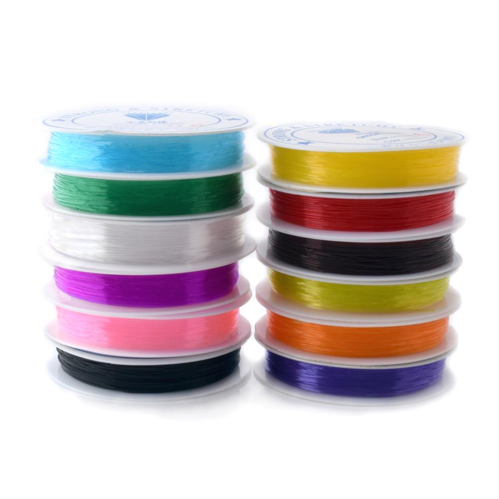 0.6mm Flexible Stretchy Elastic Crystal Line Jewelry Making Beading DIY Cord/String/Thread 1Roll Nylon Copper Wire Rope 12M(China (Mainland))