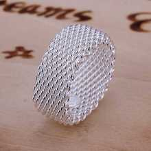 Free Shipping Wholesale 925 Sterling Silver Ring,Fashion Jewelry,Mesh Ring SMTR040