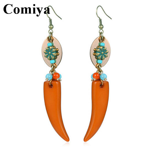 2015 Trendy summer style vintage earrings for women statement indian earing fashion jewelry flower top link multi beads tassel(China (Mainland))