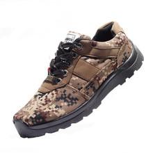 Мужская весна и осень пары тапочек и пешие прогулки обувь / удобные нескользящей качество продукции военного назначения военные черный холст обувь