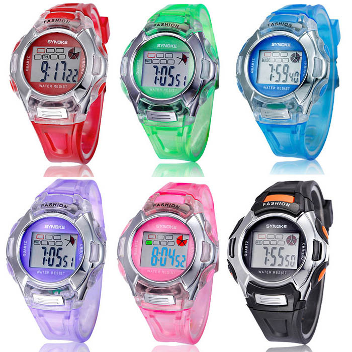 Puscard 2015 Fashion Kids Digital LED Sports Watches Alarm Date Rubber children Sport Wrist(China (Mainland))