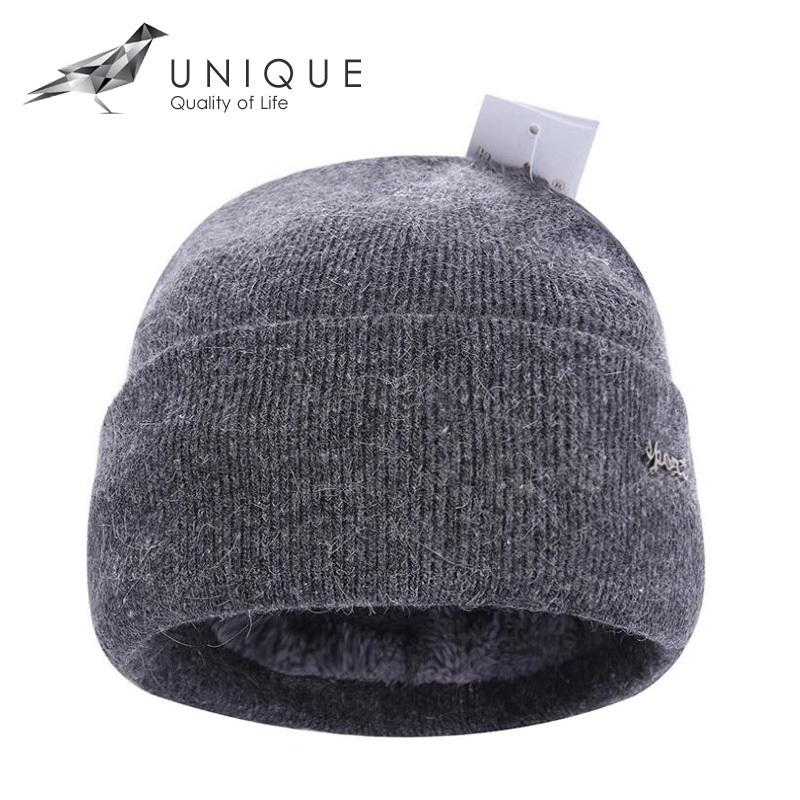 2015 Brand New Gray Black Red Winter Beanie Hats for Men Woolen Warm Knitted Cap With Velvet Inside touca Z-1325()