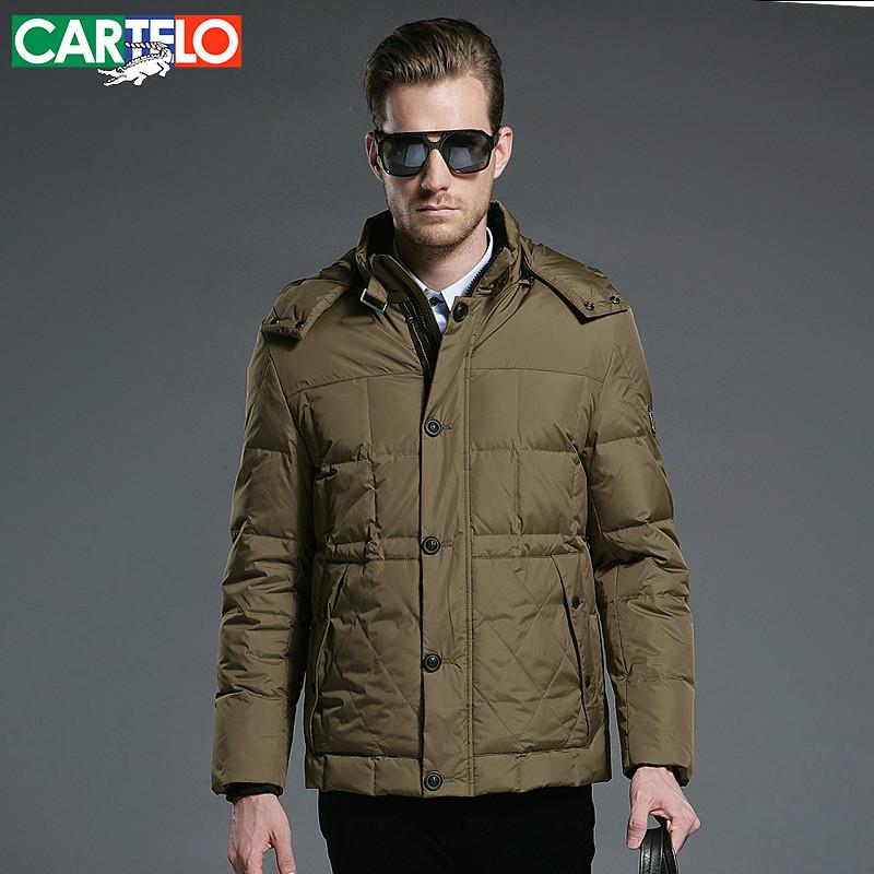 CARTELO Brand Autumn Winter Slim Thick 90% Duck Down Jacket S-XXXL for Milddle-Aged Men Short Paragraph(China (Mainland))