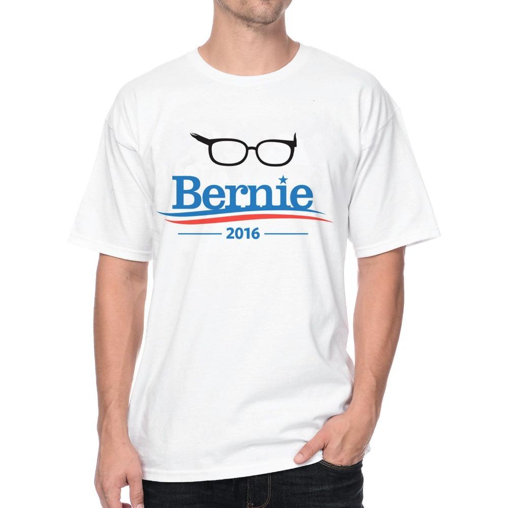 Bernie Sanders 1606873 Letter Design TEE 3D Print Cotton Short Sleeve Men's T-shirt(China (Mainland))