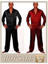 Mens Шелк Атлас Pajamas Pajama Pyjamas PJS Sleepwear Robe Robes Nightgown Loungewear ...