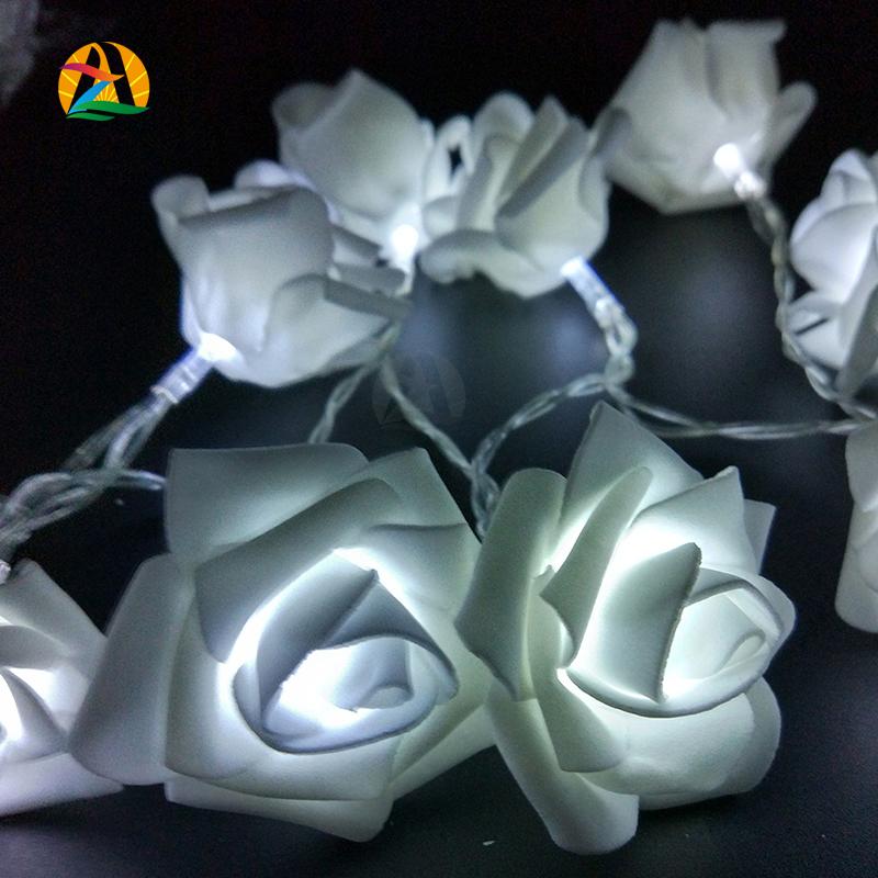 Rose LED String Lights Battery Wedding Birthday Decoration Lightings Rose Events and Parties 2M 20LED LED Guirlande Lumineuse(China (Mainland))
