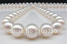 Jewelry 00772 perfect 14mm natural Australian south sea white pearl 18inch 14K solid gold(China (Mainland))