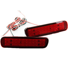 New Hot 12V 50000hours Red Lens 36 SMD 1210 LED Rear Bumper Reflector Tail Brake Stop Light for Lexus LX470 Toyota Free Shipping(China (Mainland))