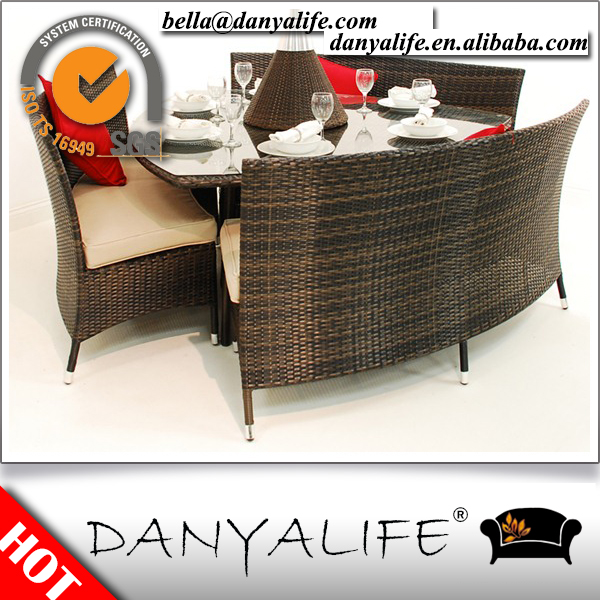 DYDS D4602 Danyalife High End Hotel Outdoor Rattan Cube Dining Set In Rattan