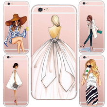 Fashion Love Supermode Sexy Lady Pattern Design Cell Phone Cases Cover For iphone 5 5s /6 6s Soft Clear Silicon TPU Capa Case