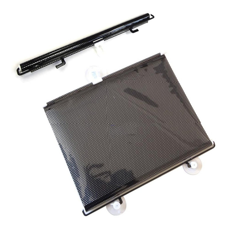 New 40*60 Retractable Car Auto Sunshade Car Rear Window Solar Protection Sunscreen PVC Metal Rod Car Rear Back Windshield(China (Mainland))