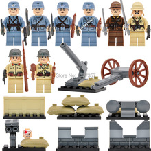 Military World War II Minifigures Army China Japan Soldier Hitlerry 8pcs/lot Building Blocks Set Models Figures Toys(China (Mainland))