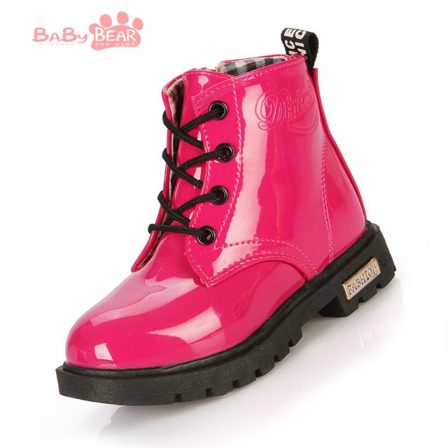 2016 новая мода дети мартин сапоги мальчики девочки мотоцикла сапоги дети PU кожаные ботинки классические кроссовки enfant зимняя обувь