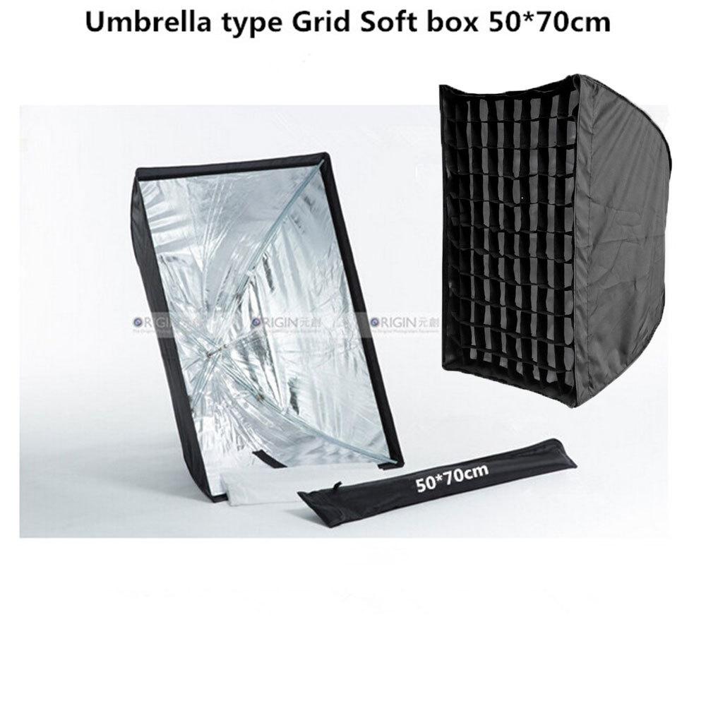 Gird 50*70cm Umbrella type soft box  Firm and convenient sealing soft<br><br>Aliexpress
