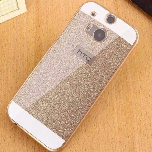 For HTC One M8 Case Glitter Slim Hard Flash Plastic Cover Diamond Bling Crystal Shinning Phone Cases Coque For HTC One M7 M9(China (Mainland))
