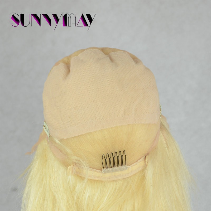 Blonde #613Straight Virgin Peruvian Hair Full Lace Human Hair Wig For White Women Bleached Knots No Shedding No Tangle Soft Hair
