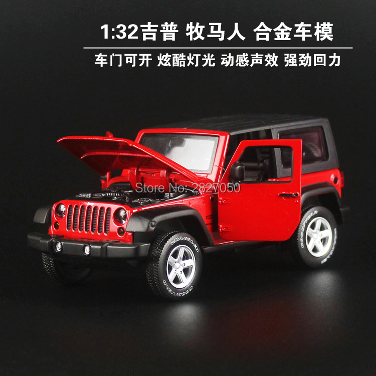 High Simulation Exquisite Model Toys Model Jeep Wrangler Rubicon Vehicle Model 1:32 Alloy Car Model Collection