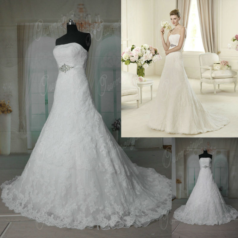 Oumeiya ORW328 Dot Tulle French Lace Wedding Dress In Wedding Dresses From Weddings Amp Events On