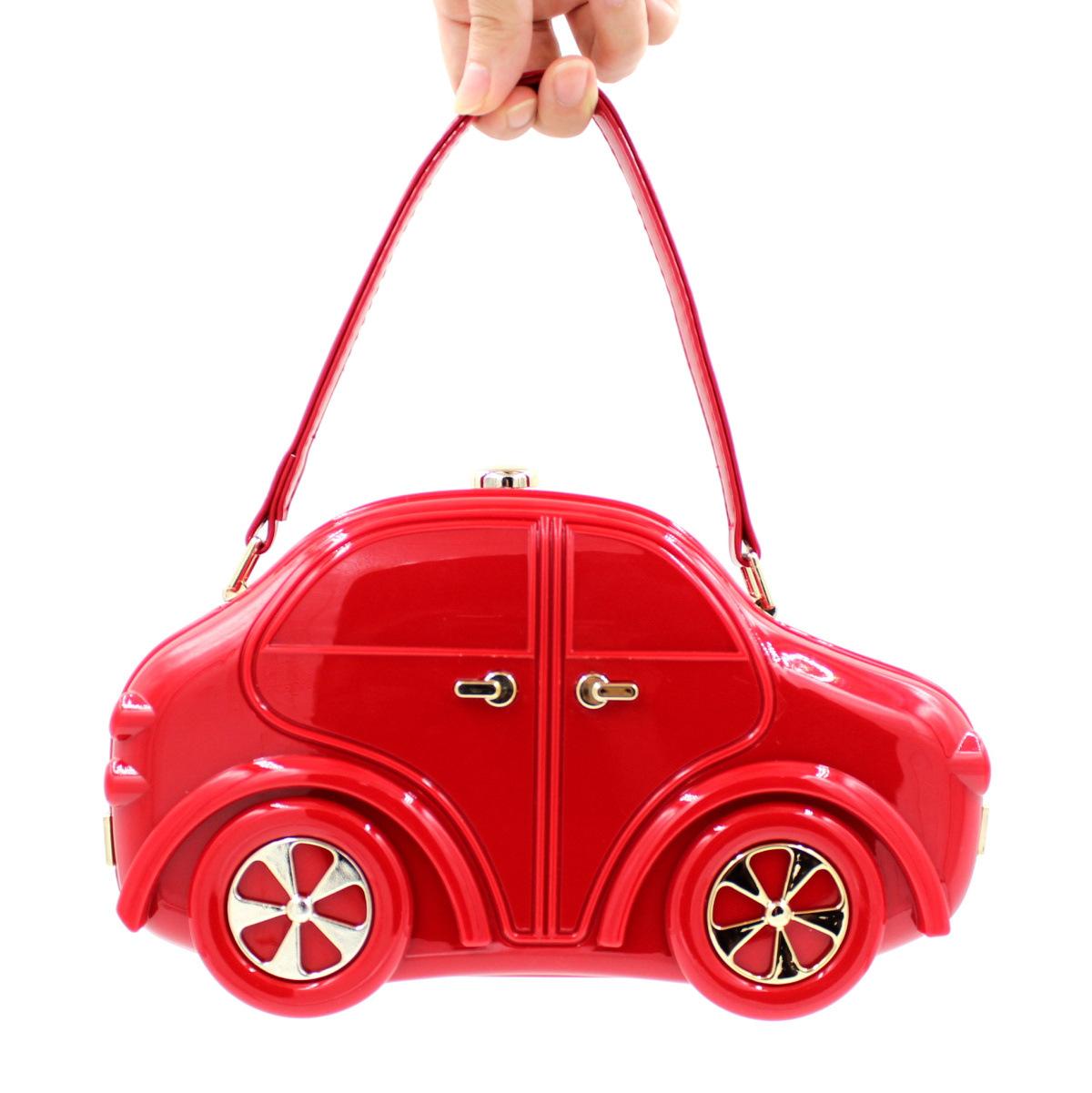 2016 European New Acrylic Red Car Evening Bag Stylish Cute Car Model Day Clutch Vintage Part Handbag R335(China (Mainland))