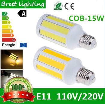 BRETT Brand Highlight LED COB integrated corn light energy-saving lamps 15W is white E27 E26 screw home lighting 110V-130V(China (Mainland))